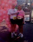 Jack and I after running the Race for the Cure (I'm a breast cancer survivor)